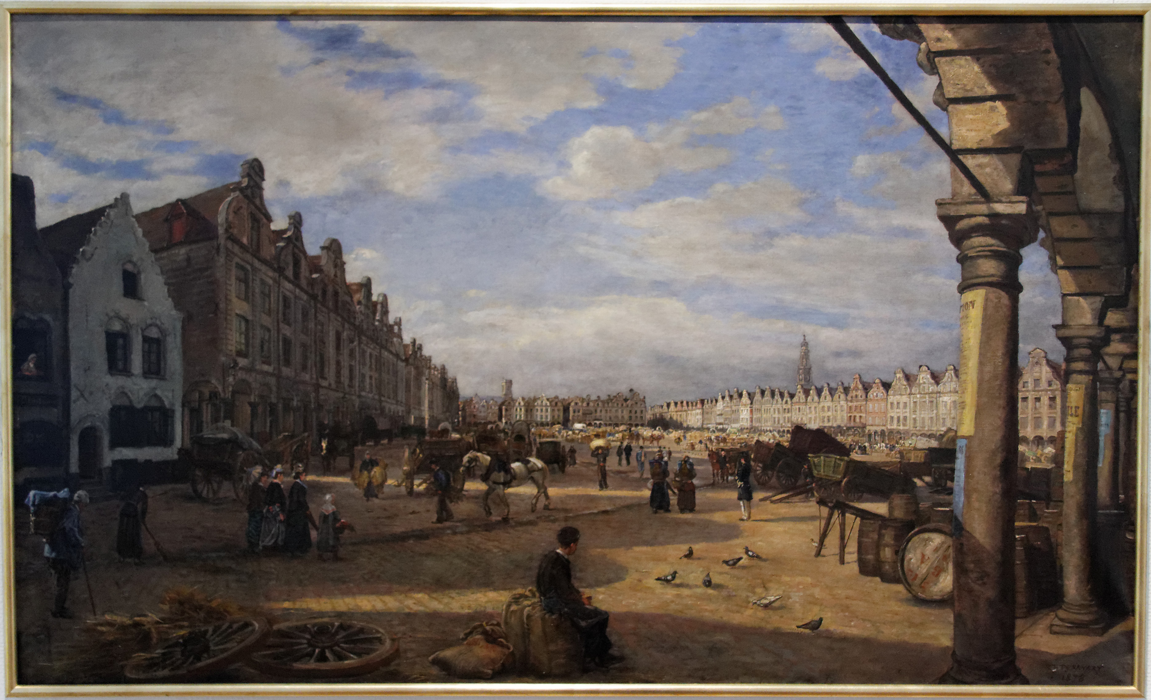 Charles Desavary - La grand place à Arras