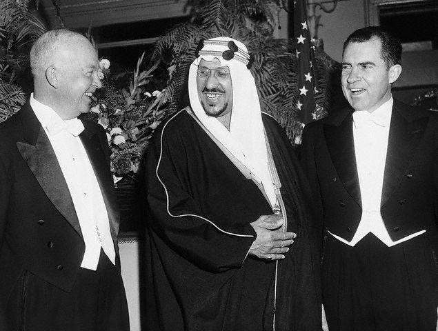 File:Eisenhower and Nixon at Dinner with King Saud.jpg