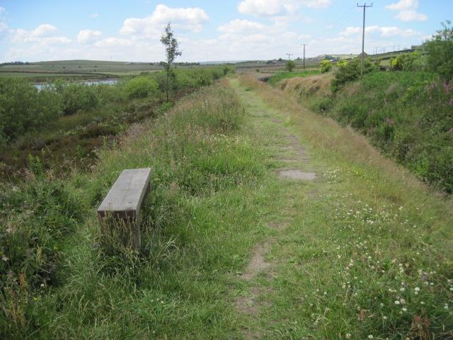 Footpath beside Broadstone Reservoir - geograph.org.uk - 2487195