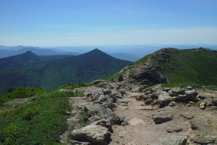 The White Mountains of New Hampshire are part of the Appalachian Mountains. FranconiaRidgeTrail.jpg