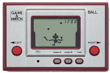 The Game & Watch series is Nintendo's first worldwide success in video game consoles. Game & Watch.png