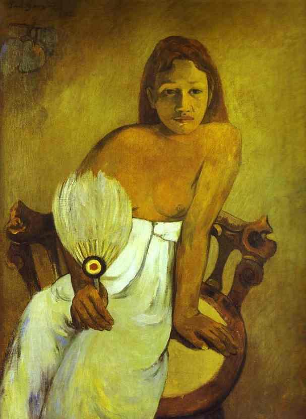 Risultati immagini per dipinto di gauguin della ragazza tahitiana