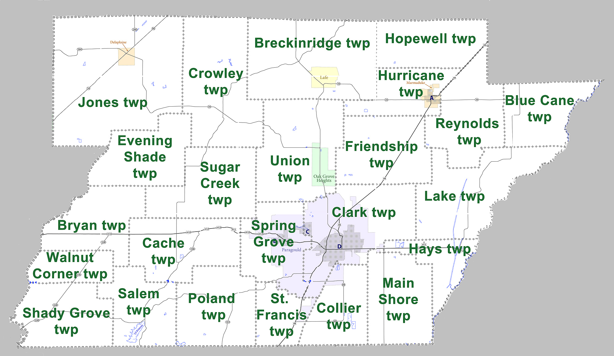 Greene County Arkansas Wikiwand - Counties in arkansas map