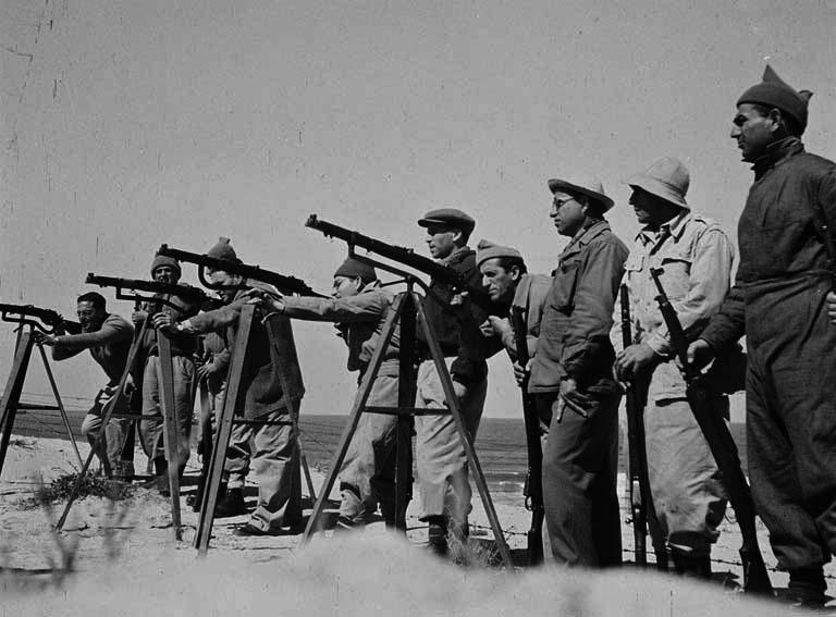 Hagana training. War of Independence