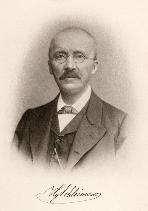 Depiction of Heinrich Schliemann