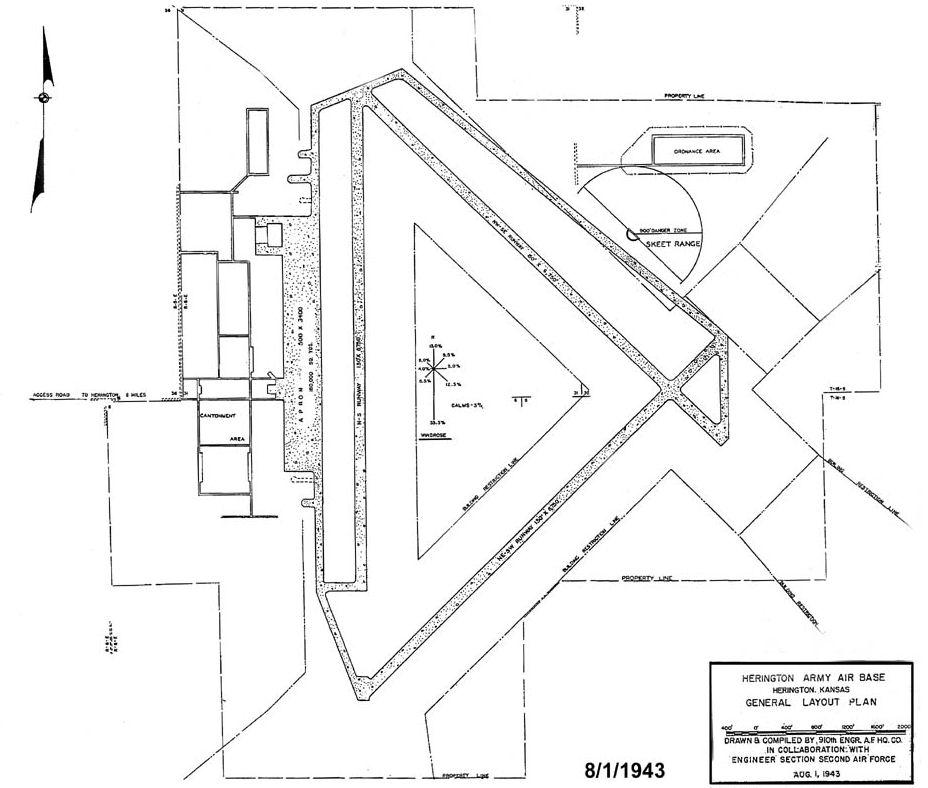 file herington army airfield - 1943 layout plan jpg