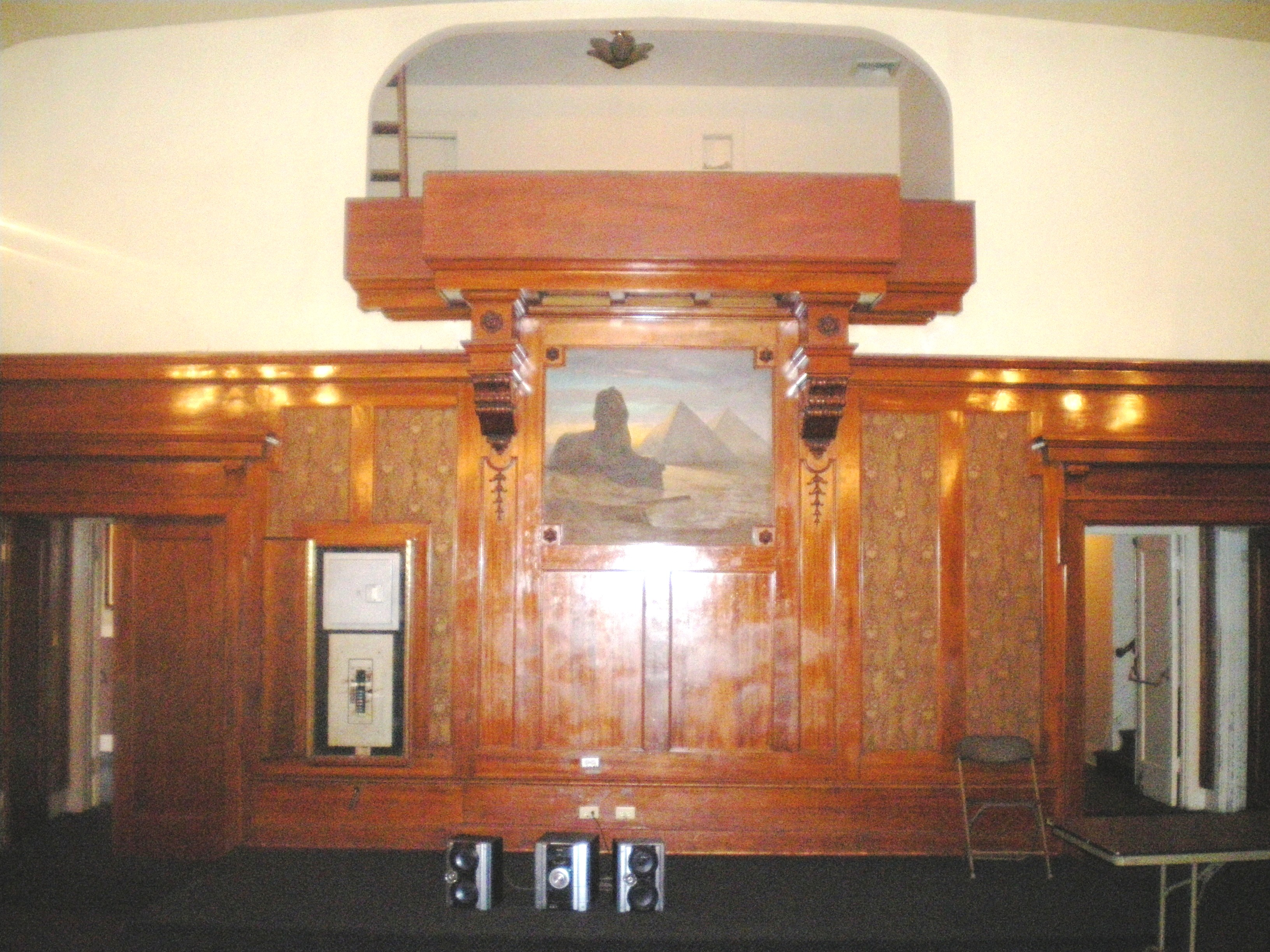 File Highland Park Masonic Temple Stage In Lodge Room Jpg