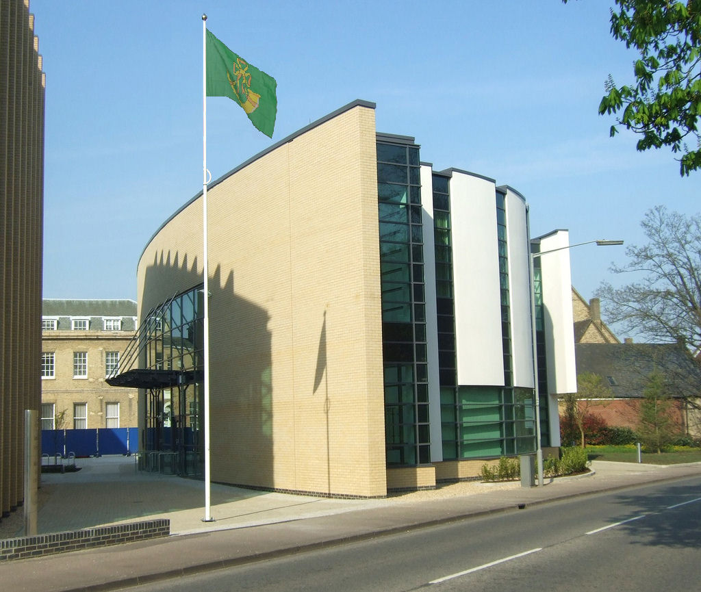Huntingdonshire county flag at Eland House
