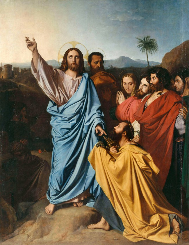 File:Ingres, Jean - Jesus Returning the Keys to St. Peter - 1820.jpg
