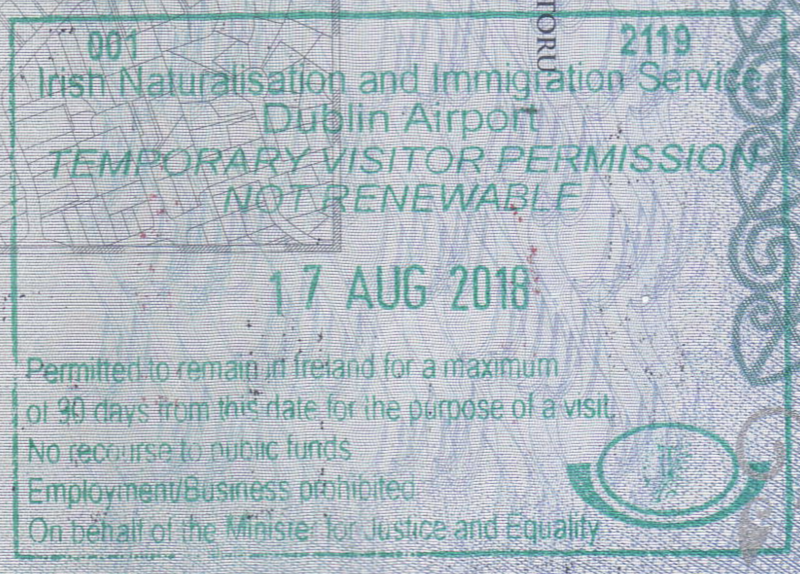 Visa Policy Of Ireland Wikipedia