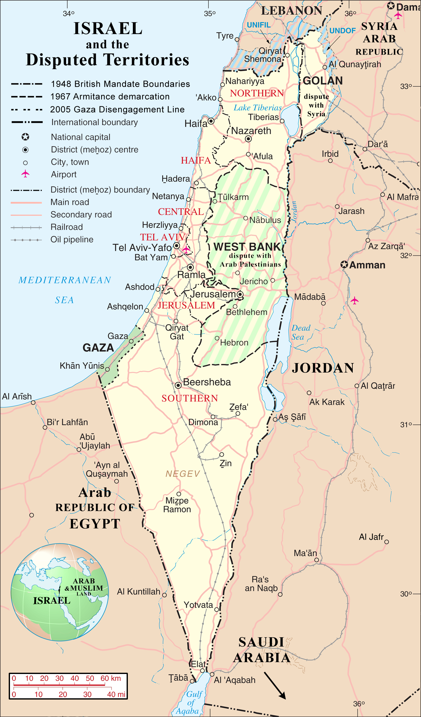 Atlas of israel wikimedia commons israel and the disputed territories mapg gumiabroncs Image collections