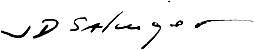 Handtekening van Salinger.