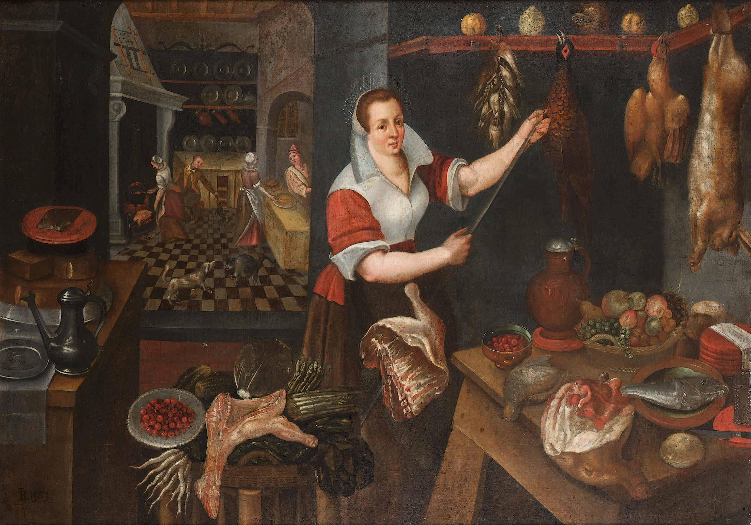 Interior Kitchen Maid filejean baptiste de saive circle kitchen interior with maid 1563