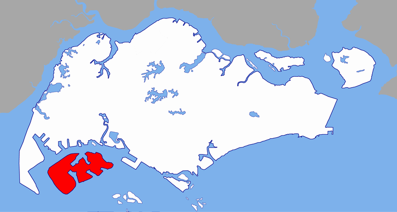 Map of Jurong Island