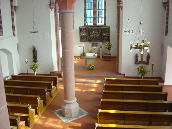 Katholische Kirche Unbefleckte Empfängnis, Innenraum (Lutherstadt Wittenberg)