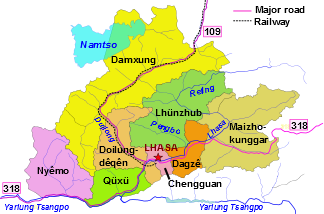 Lhasa county-level divisions