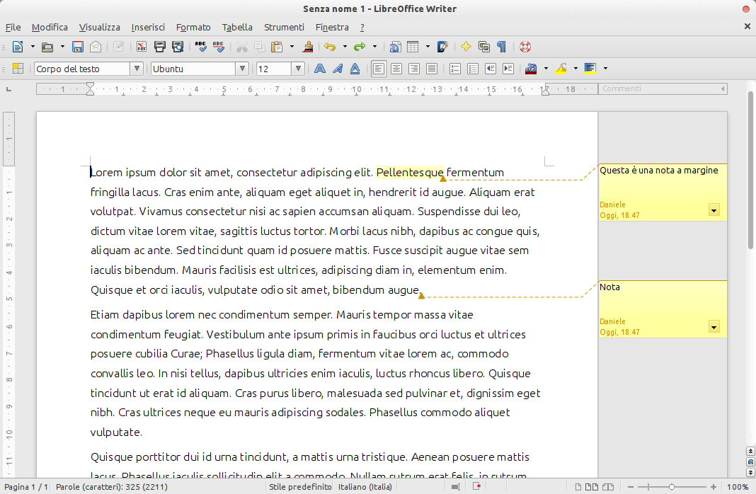libreoffice gratis in italiano