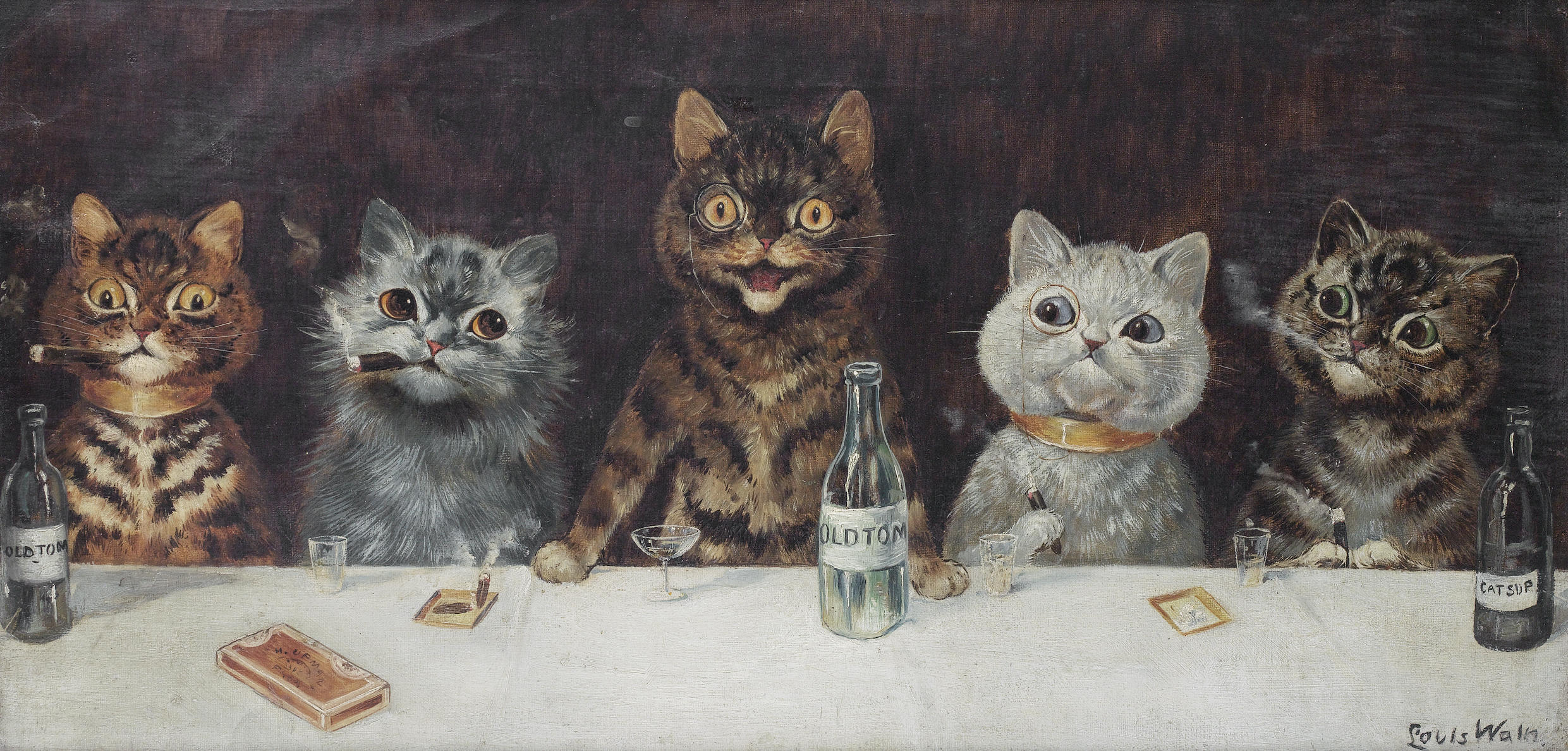 mental illness and art Louis Wain the bachelor party
