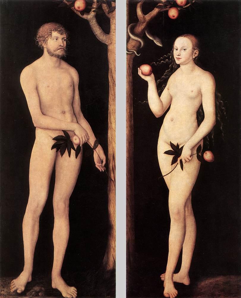 Adam und Eva - Lukas Cranach der Ältere, 1531