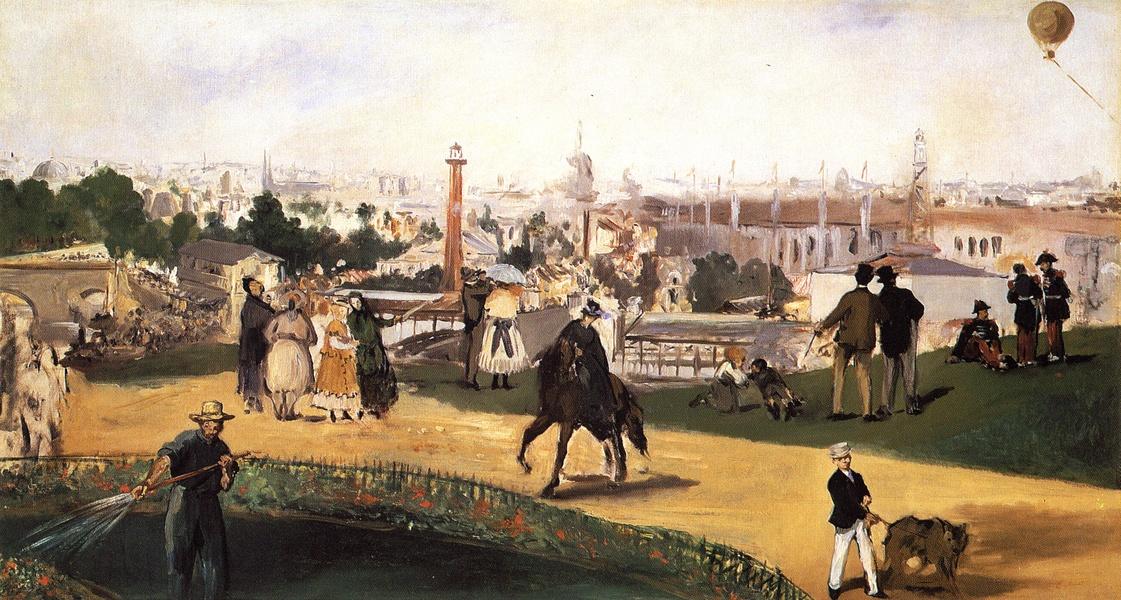 Manet - Blick auf die Weltausstellung von 1867