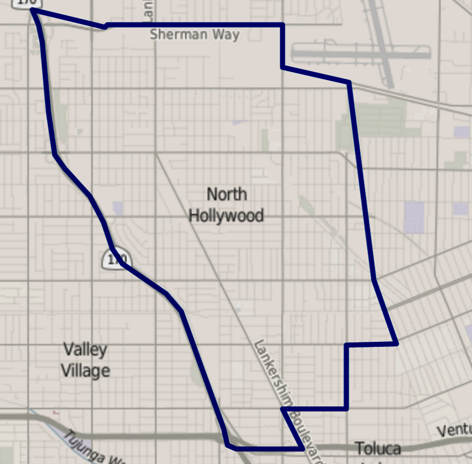 California Map Hollywood.File Map Of North Hollywood Los Angeles California Png Wikimedia