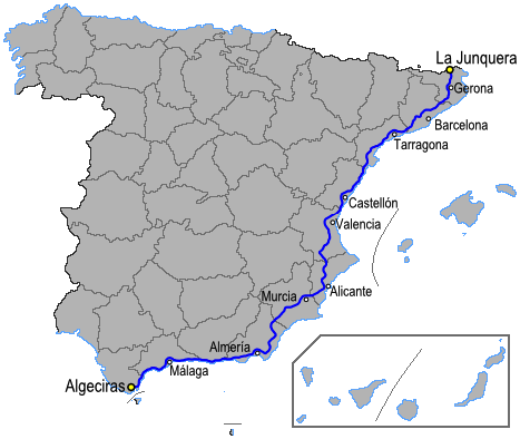 carte espagne fuengirola