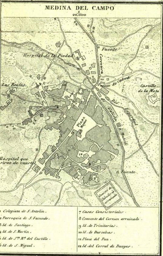 Medina Del Campo Mapa.Archivo Mapa De Medina Del Campo 1852 Por Francisco Coello