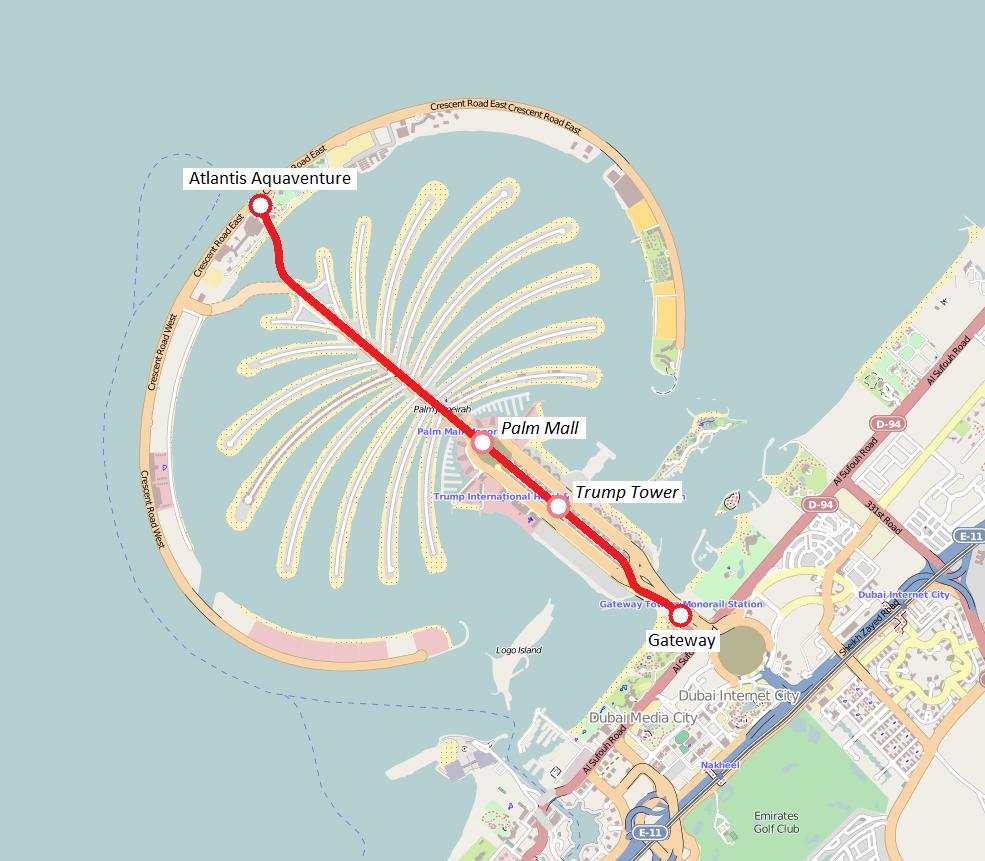 File Mappa Monorotaia Palm Jumeirah Png