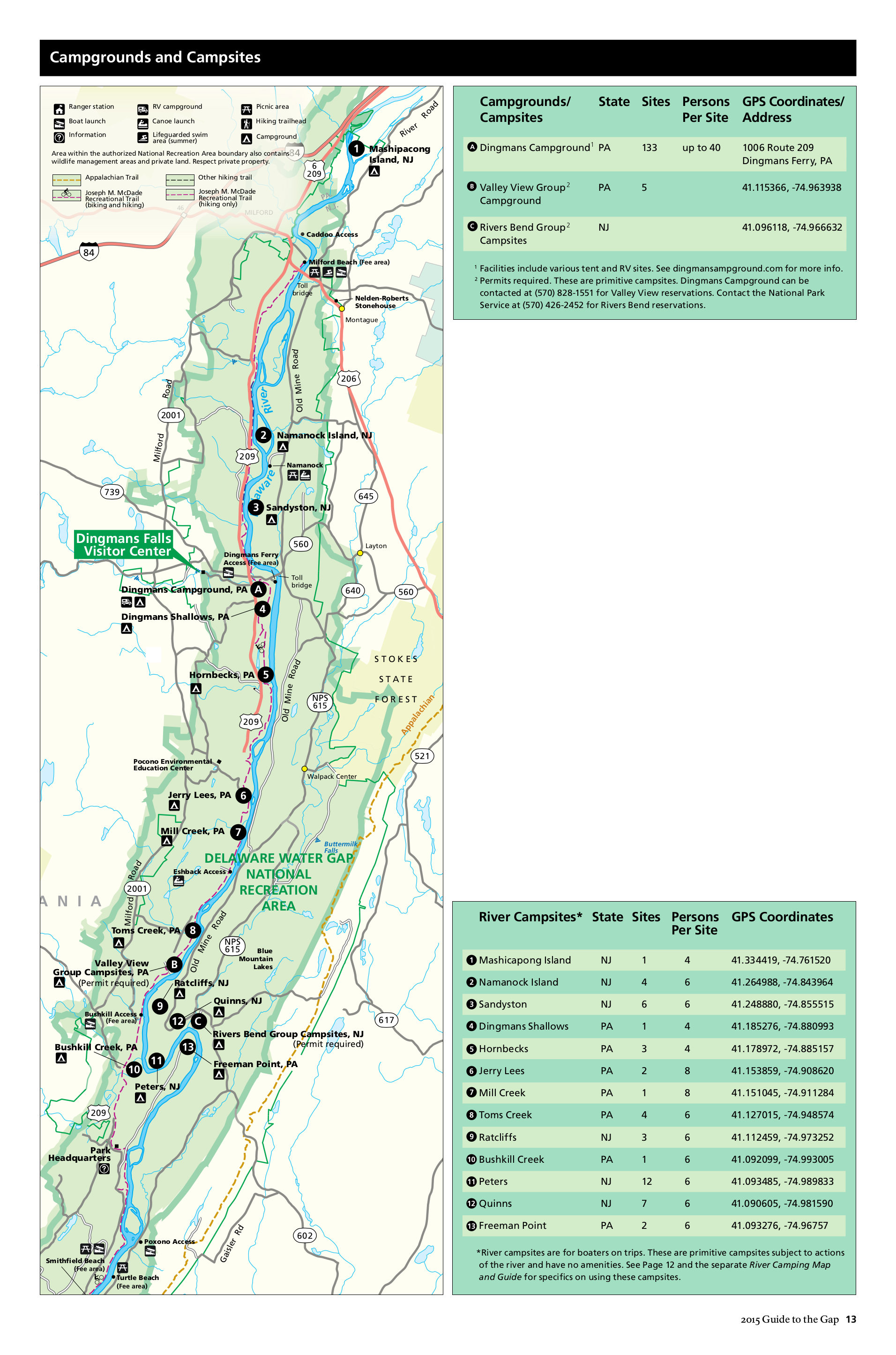 delaware water gap national recreation area map File Nps Delaware Water Gap Camping Map Jpg Wikimedia Commons delaware water gap national recreation area map