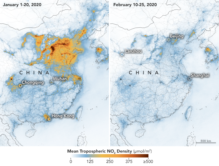 File:Nitrogen dioxide Density Change In China Due To Coronavirus.png