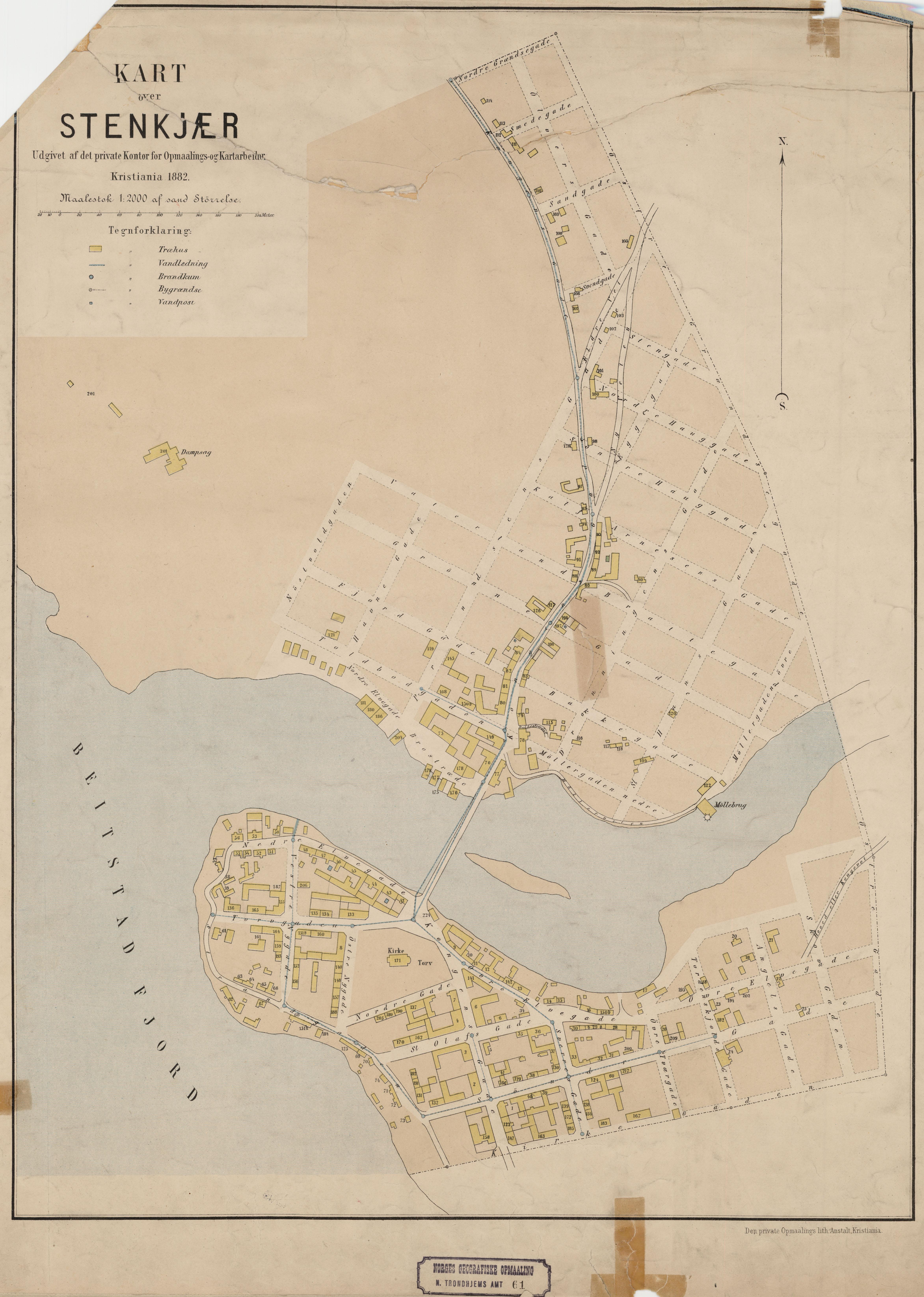 File Nordre Trondhjems Amt Nr 61 Kart Over Stenkjaer 1882 Jpg