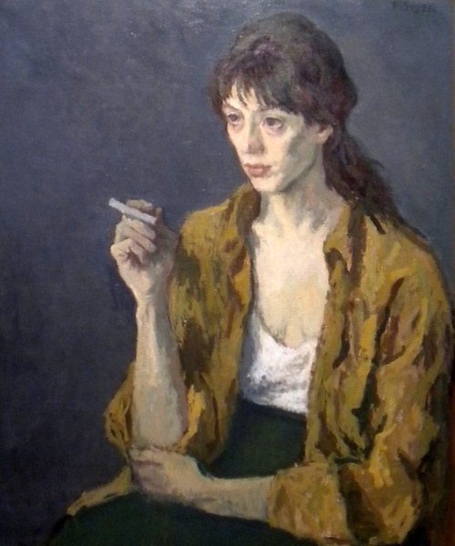 Nourse Woman with cigarette