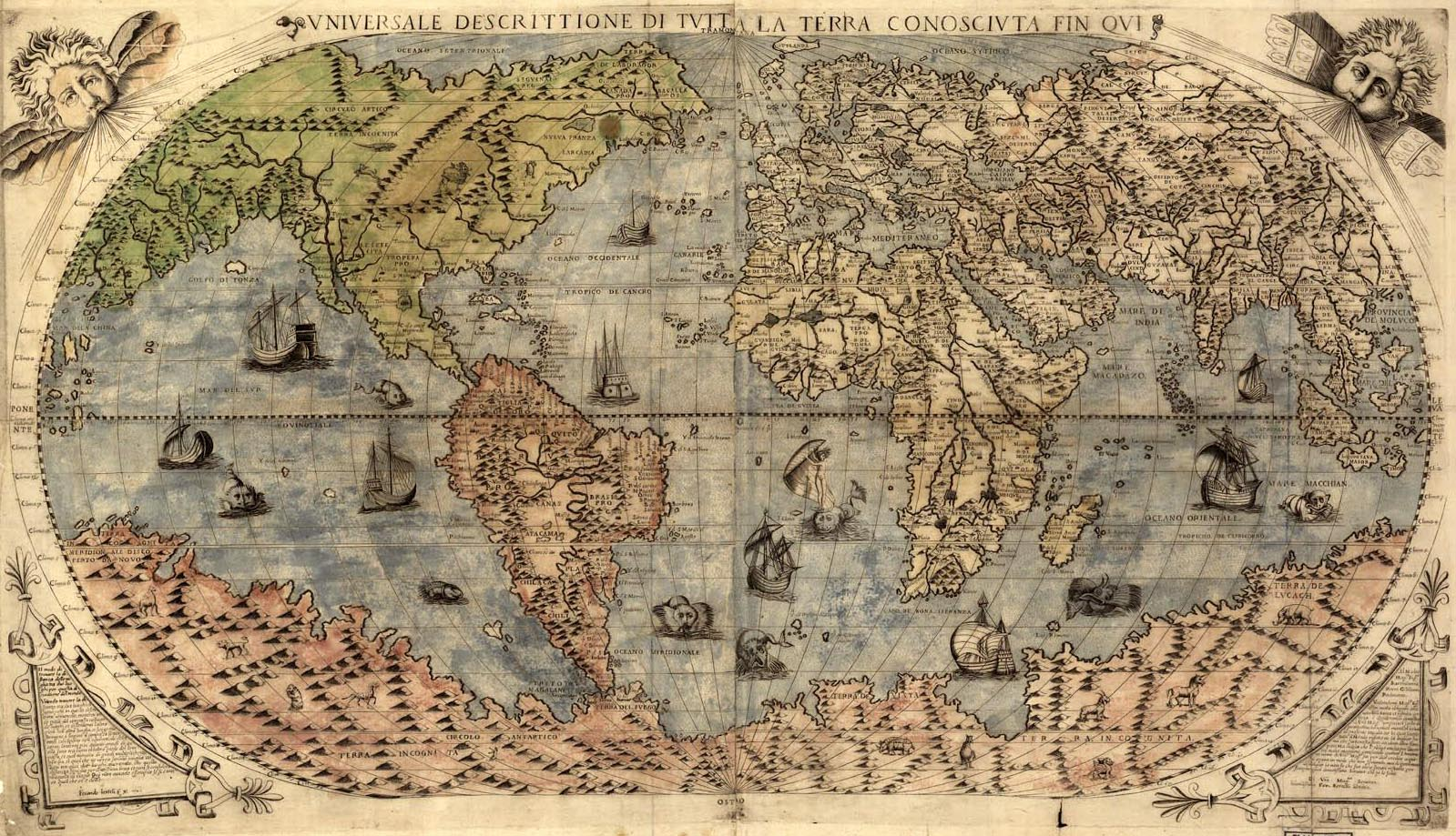 Image result for old map of the world