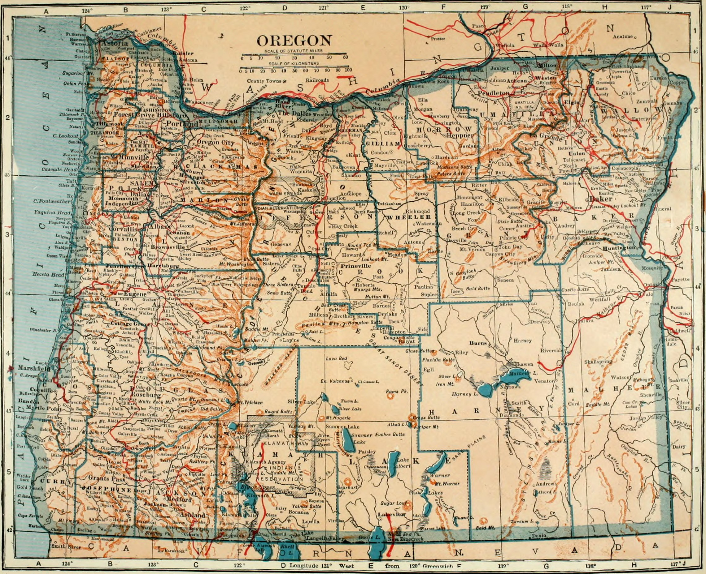 mapoforegon with File Oregon Map Colliers on Washington Physical Maps further Interstate 84 portland map further Spe2009 in addition Hot Springs moreover Az Map Highways.