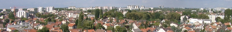 Panorama over Aulnay-sous-Bois