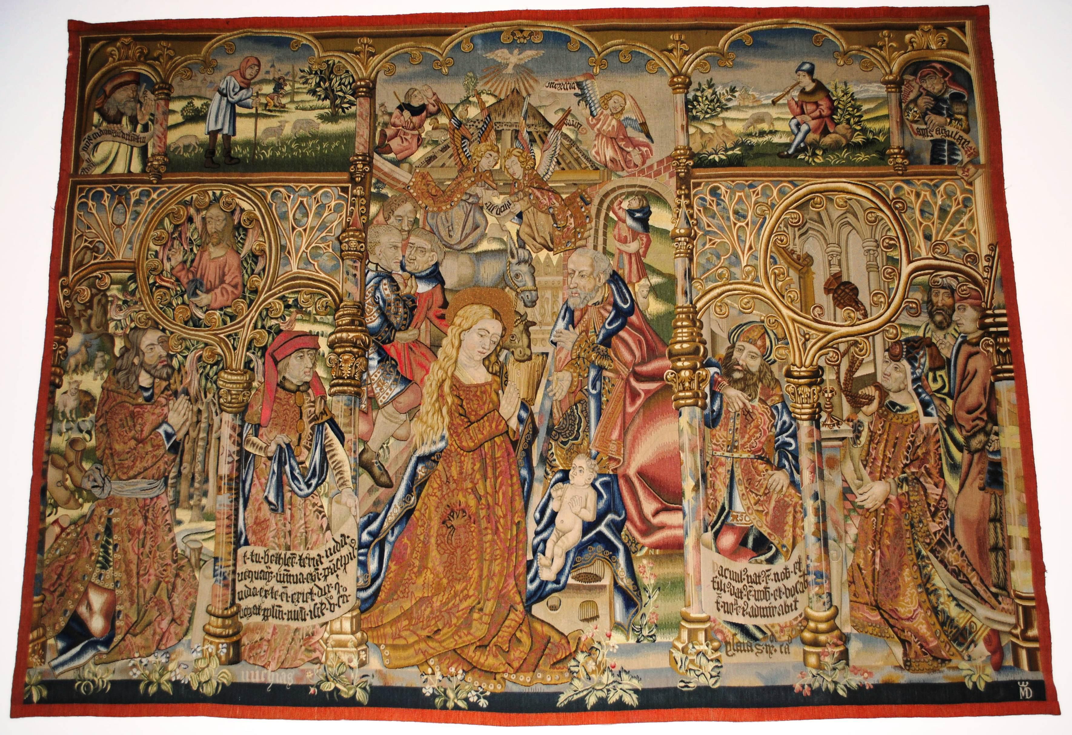 File:Parador de Baiona, tapiz, El Nacimiento de Jesús (copia).JPG ...