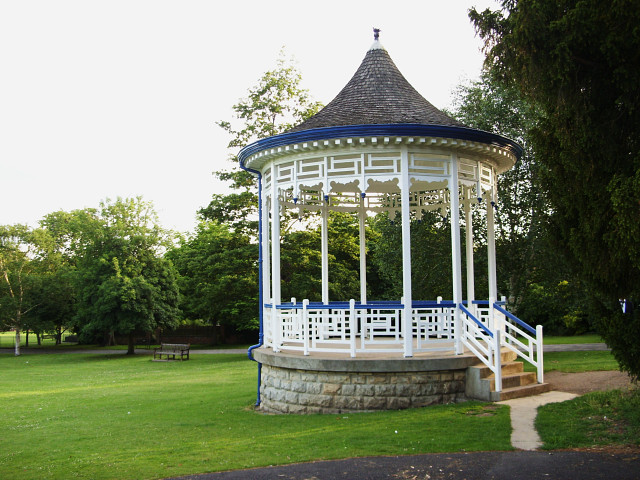 Part of Pittville Park and a bandstand, Cheltenham - geograph.org.uk - 1363477