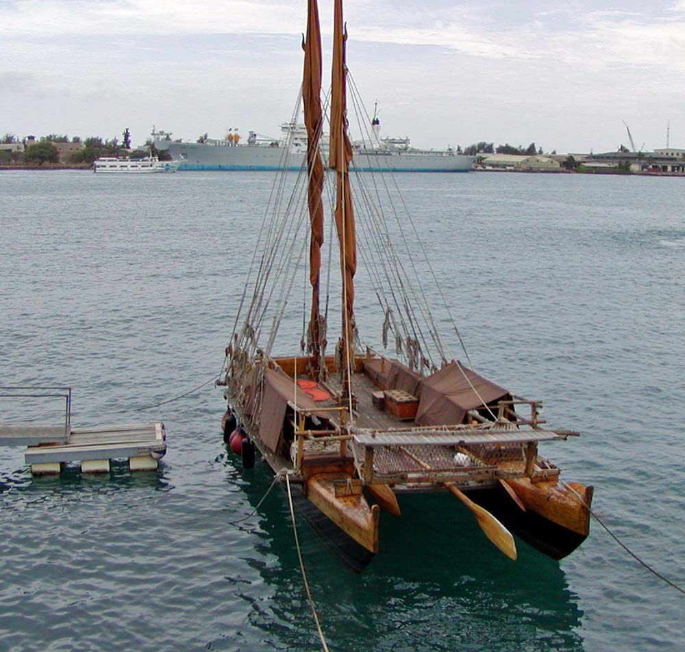 Polynesian canoe replica
