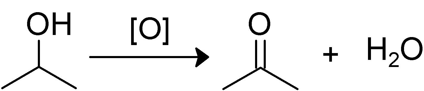 Znalezione obrazy dla zapytania propanol to acetone