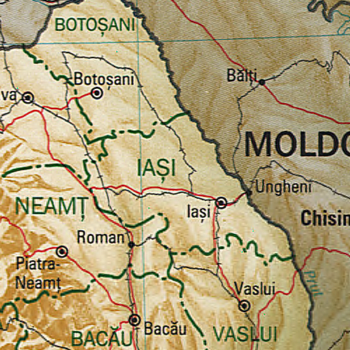 Iasi romania map