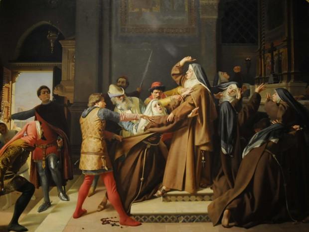 File:Raffaello Sorbi - Piccarda Donati fatta rapire dal convento di Santa Chiara dal fratello Corso.jpg