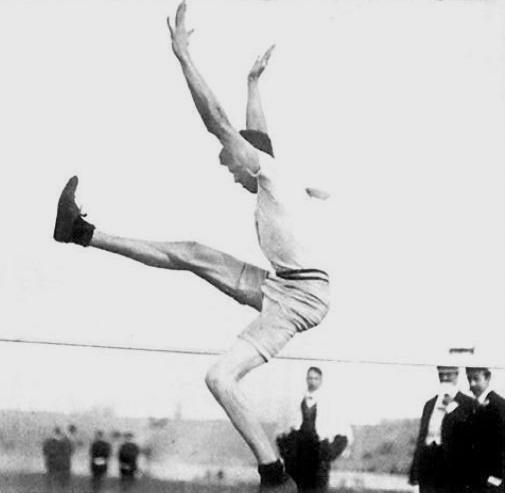 File:Ray Ewry, vainqueur du saut en hauteur sans élan aux Jeux Olympiques de 1908 (Londres).jpg
