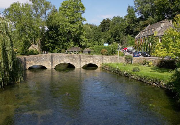 River and Road Bridge, Bibury - geograph.org.uk - 1575491