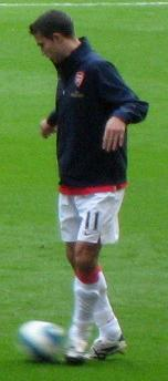 Dutch football (soccer) player Robin van Persie