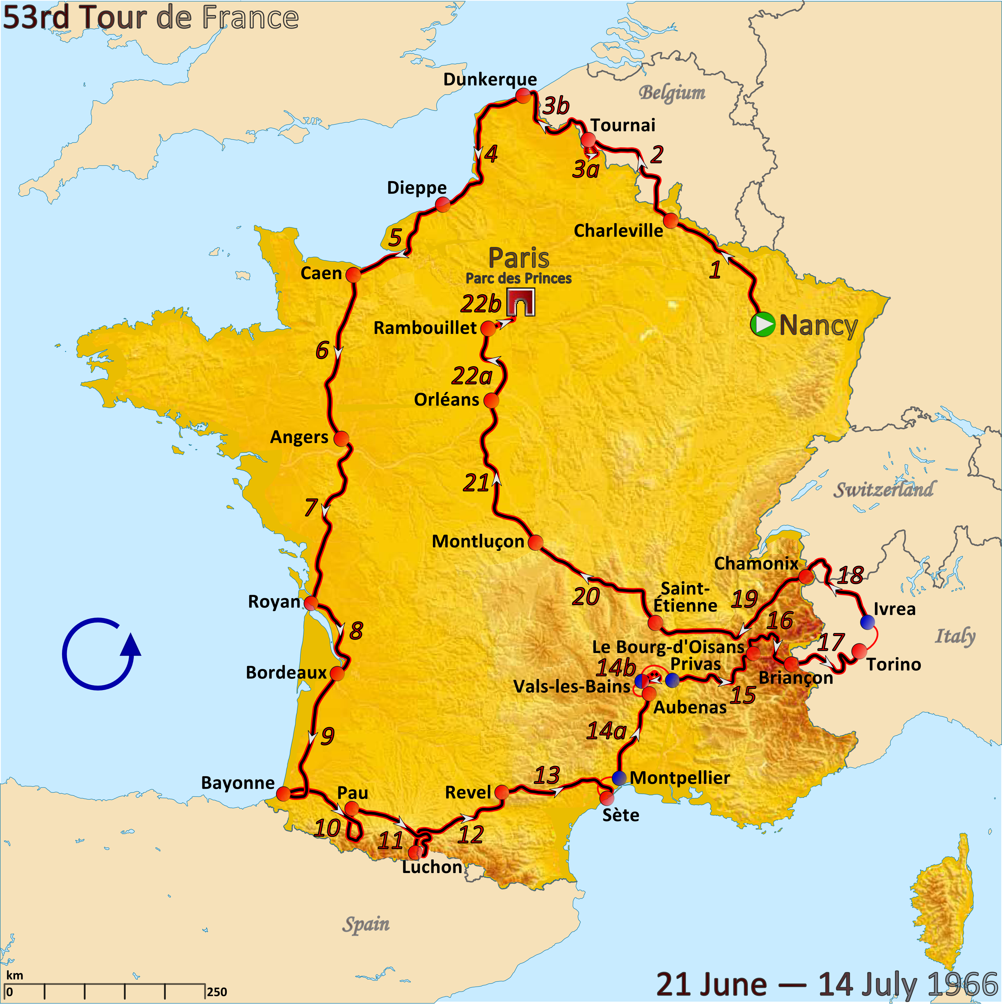 1966 tour de france - wikipedia