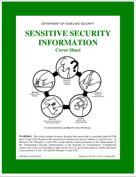 sensitive security information