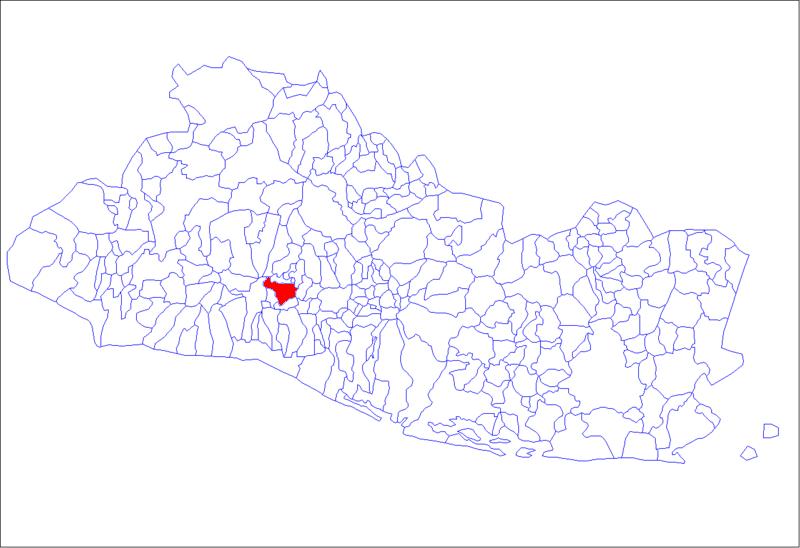 San Salvador locator map