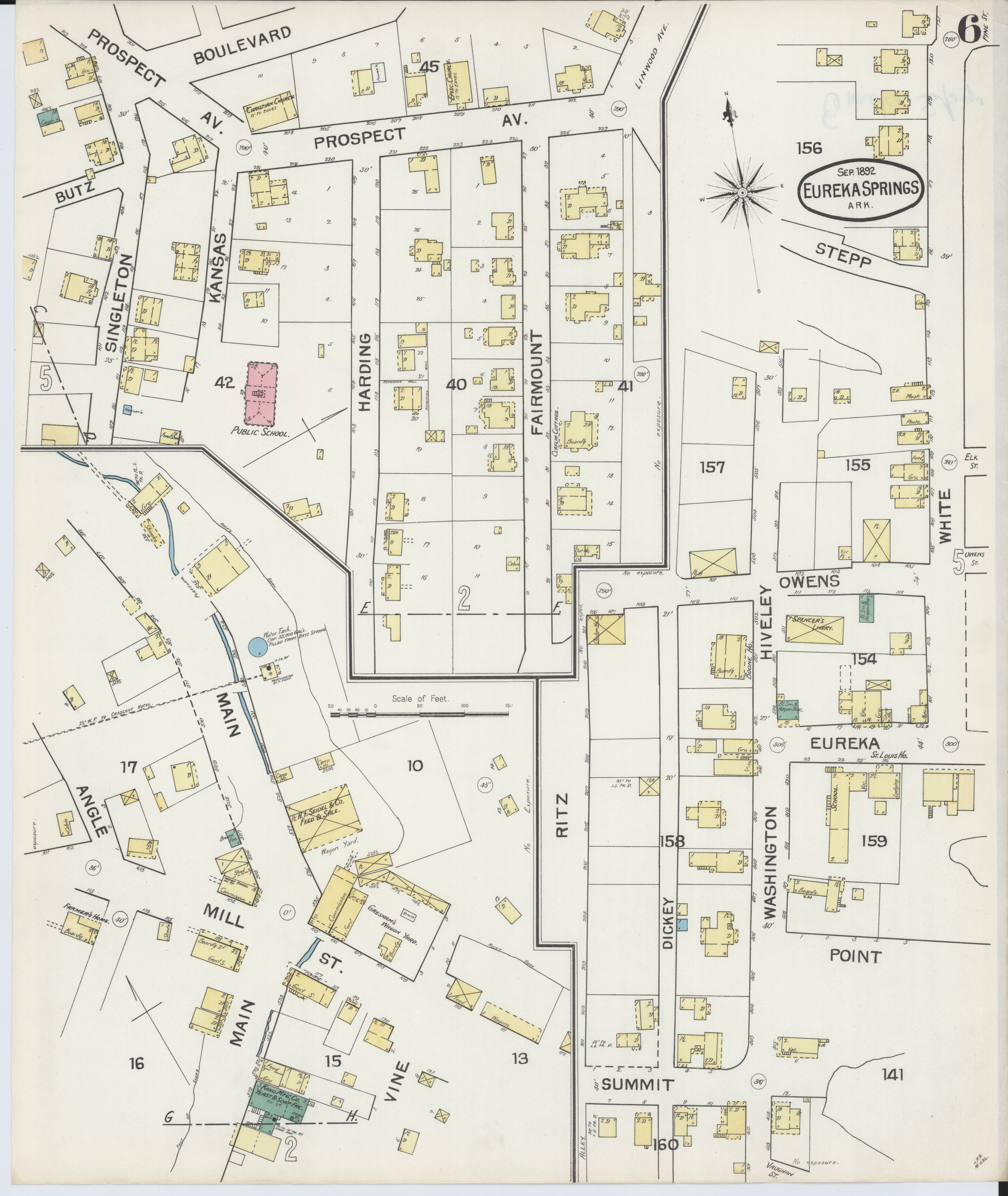 File Sanborn Fire Insurance Map From Eureka Springs Carroll County