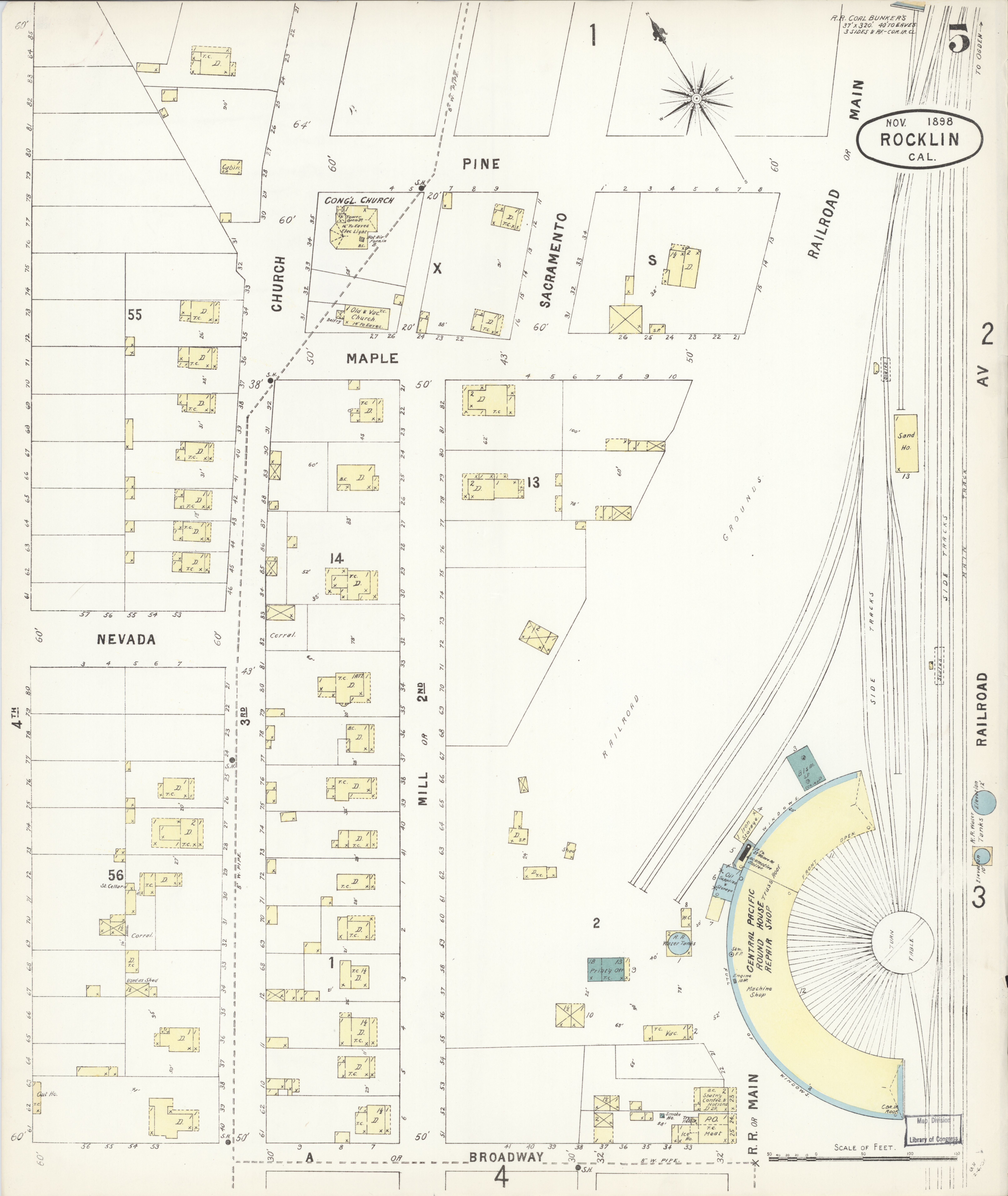 File:Sanborn Fire Insurance Map from Rocklin, Placer County ...