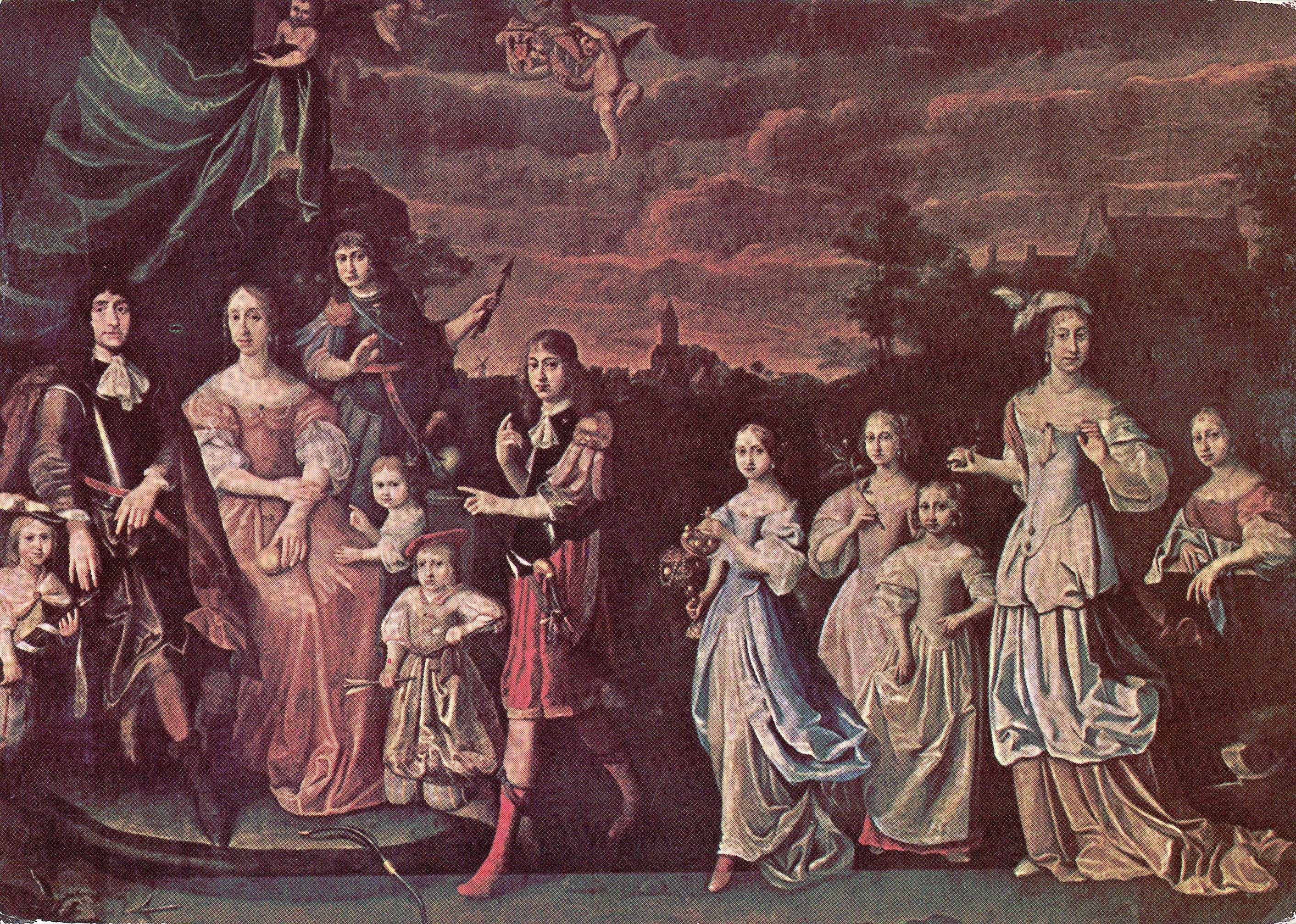File schilderij van de familie tjarda van starkenborgh en gratia susanna clant met 10 kinderen - Deco schilderij slaapkamer kind ...